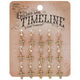 Rhinestone Cross Charms