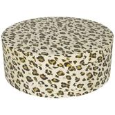 Leopard Print Round Box