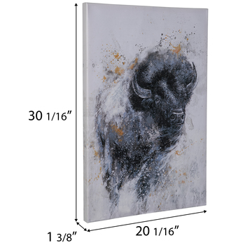 Painted Bison Canvas Wall Decor