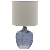 Blue Textured Glass Lamp