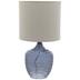 Blue Textured Glass Lamp