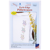 Floating Butterflies Embroidery Pillowcases Kit