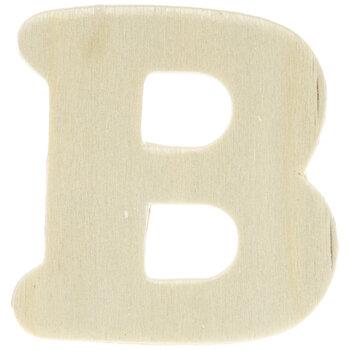 """Wood Letters B - 1 3/4"""""""