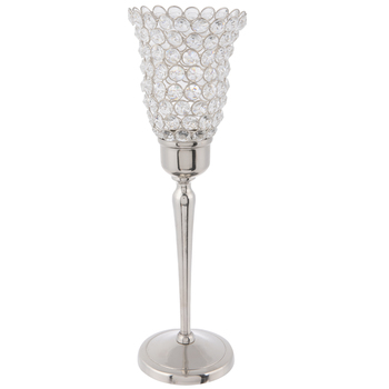 Faceted Gem Pedestal Candle Holder