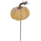 Weathered Yellow Pumpkin Pick