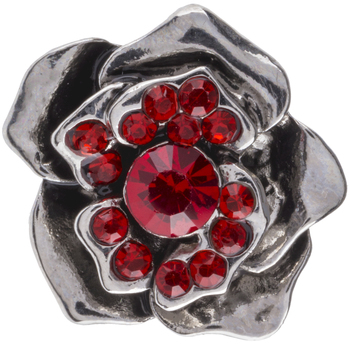 Red Rose Snap Charm