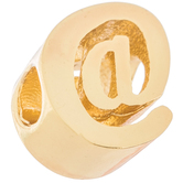 14K Gold Plated Cursive Letter Charm - At Sign