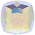 Crystal AB Mystic Fancy Square Swarovski Stone - 18mm