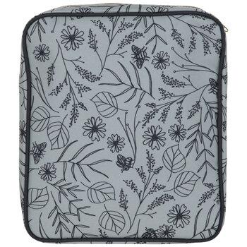 Mint & Navy Floral Needlepoint Binder