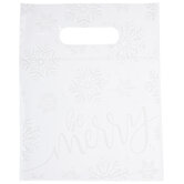 Be Merry Snowflakes Zipper Bags