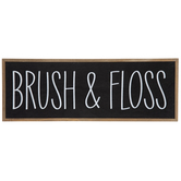 Brush & Floss Wood Wall Decor