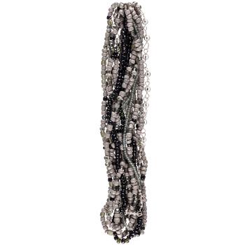 Black & Gray Mixed Media Bead Strands