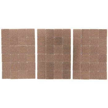Rose Gold Square Mosaic Tiles - Small
