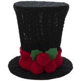 Knit Top Hat Tree Topper