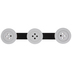 Gray & Black Button Wall Hooks