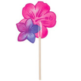 Luau Flowers Cupcake Toppers