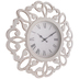 Brushed White Cutout Flourish Wall Clock