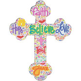 Believe Wood Wall Cross