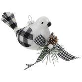 Buffalo Check Bird Ornament