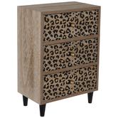 Leopard Print Mini Wood Cabinet