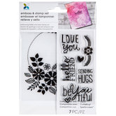 Love You Embossing Folder & Stamps