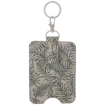 Leafy Imitation Leather Keychain Wallet