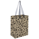 Beige & Brown Leopard Print Gift Bag