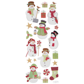 Christmas Snowman Glitter Stickers