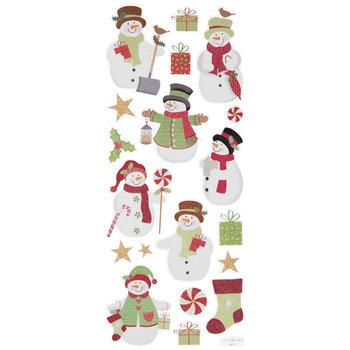 Christmas Snowman Glitter Stickers