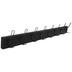 Black Wood Wall Decor With Hooks