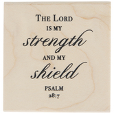 Psalm 28:7 Rubber Stamp