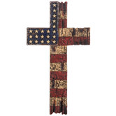 American Flag Wall Cross