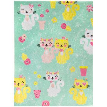 Cat & Flower Felt Sheet