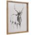 Sketched Deer Wood Wall Decor