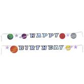 Happy Birthday Stars & Planets Banner