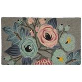 Pink & Blue Floral Coir Doormat