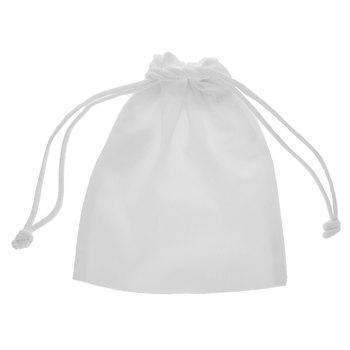 White Drawstring Mini Pouches