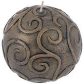 Antique Gold & Black Swirl Ball Candle