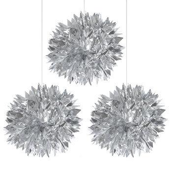 Silver Foil Pom Poms