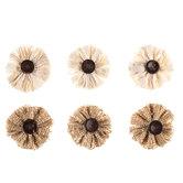 Burlap & Canvas Layered Flower Embellishments