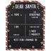 Dear Santa Wood Chalkboard