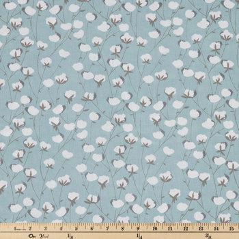 Spa Blue Cotton Belt Duck Cloth Fabric