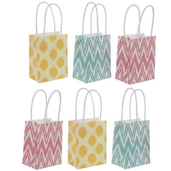Bright Patterned Craft Gift Bags
