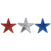 Red, Silver & Blue Star Embellishments