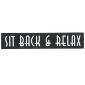 Sit Back & Relax Wood Decor