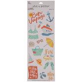 Bon Voyage Watercolor Stickers