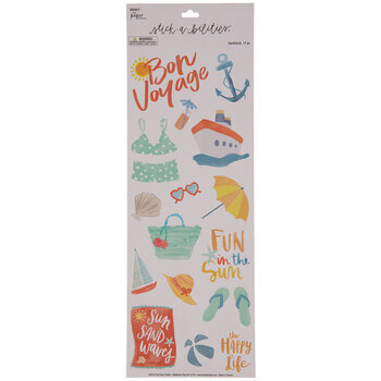 Bon Voyage Watercolor Stickers