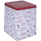 Christmas Phrases Tin Box