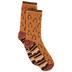 Orange Wishbone & Striped Crew Socks
