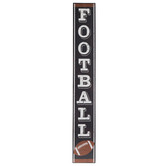 Football Vertical Wood Wall Decor